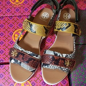 Tory Burch kira platform leather sandals